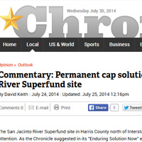 Commentary:  Permanent cap solution for San Jacinto River Superfund site (The Chron
